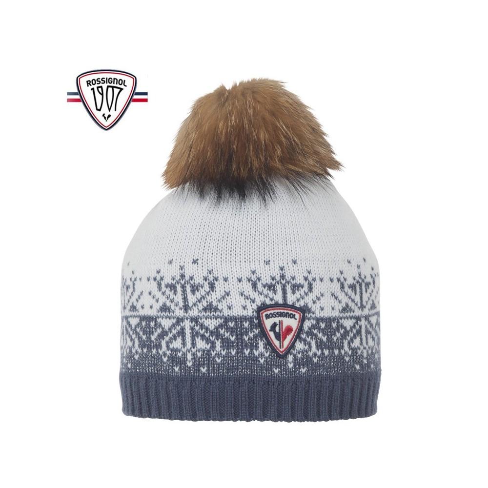 Bonnet de ski ROSSIGNOL 1907 Lyna Blanc / Jean Femme