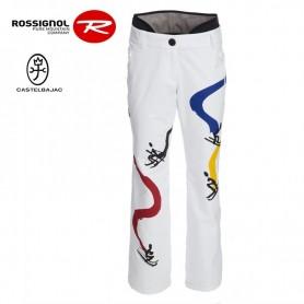 Pantalon de ski ROSSIGNOL JJC Tobogan blanc femme