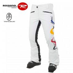 Pantalon de ski ROSSIGNOL JJC Exito blanc femme
