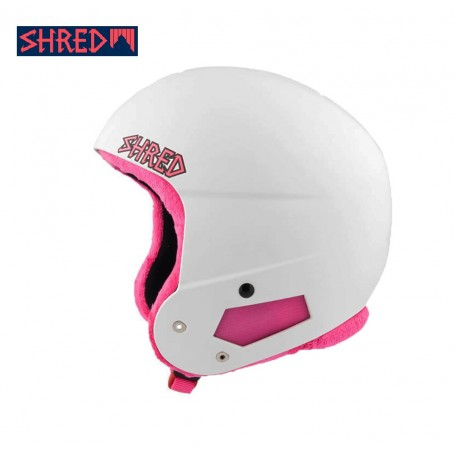Casque de ski SHRED Brain Bucket Blanc / Rose Unisexe