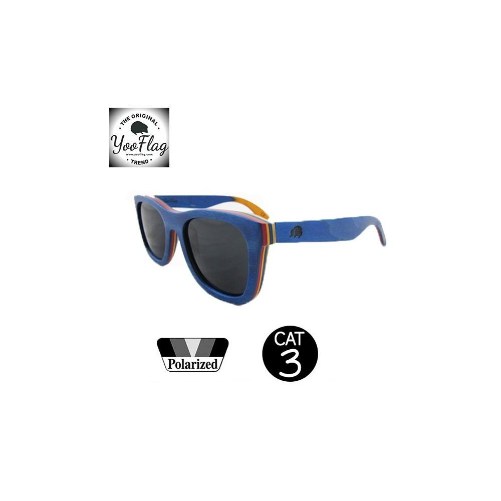 Lunettes de soleil YOOFLAG California Bleu Unisexe Cat. 3