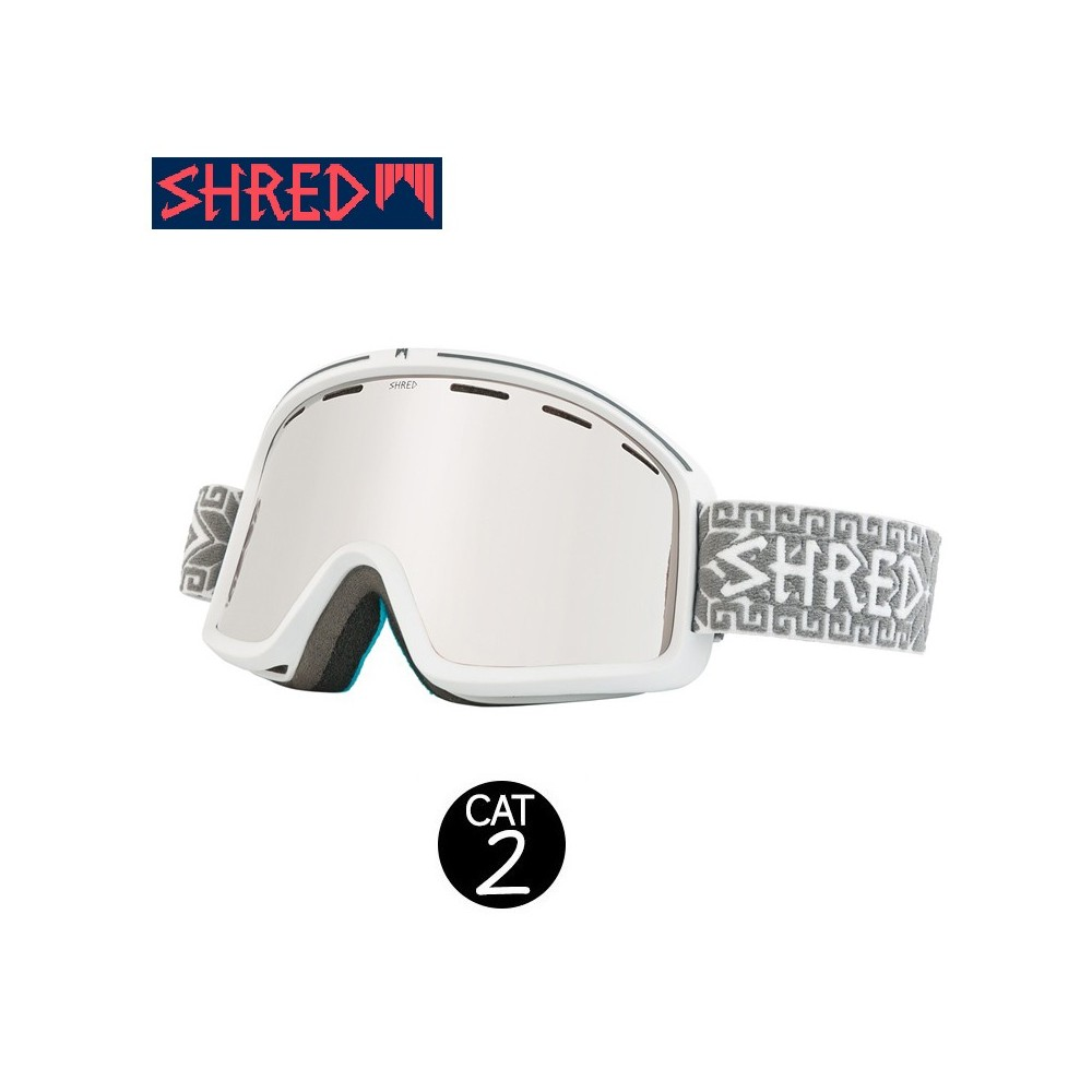 Masque de ski SHRED Monocle Norfolk Blanc Unisexe Cat.2