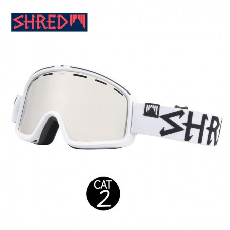 Masque de ski SHRED Monocle Bleach Blanc Unisexe Cat.2