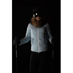 Doudoune de ski ROSSIGNOL 1907 Aura DX Bleu ciel Femmes