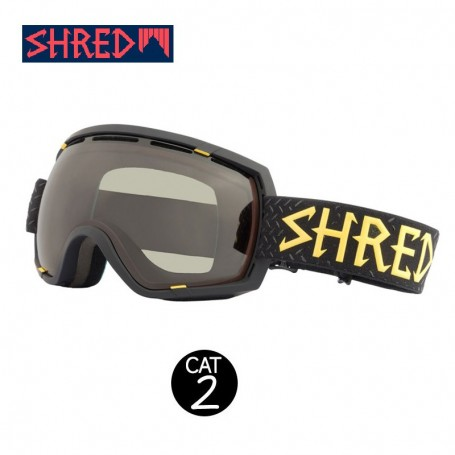Masque de ski SHRED Stupefy Walnuts Noir Unisexe CBL Cat.2