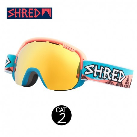 Masque de ski SHRED Smartefy Timber Bleu Unisexe Cat.2