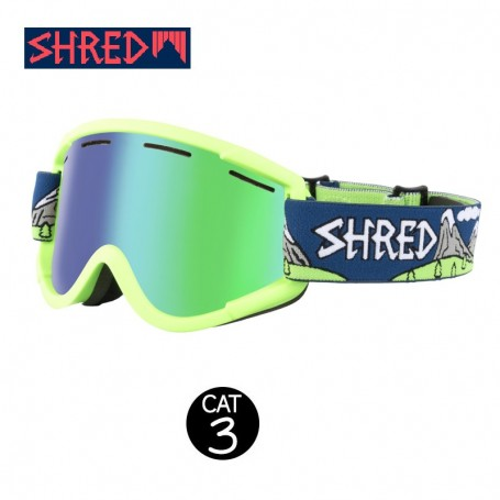 Masque de ski SHRED Nastify Needmoresnow Vert Unisexe CBL Cat.3