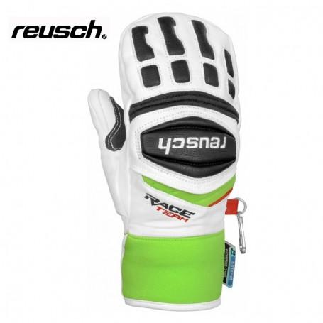 Moufles de ski REUSCH Race R-Tex Blanc / Vert Junior