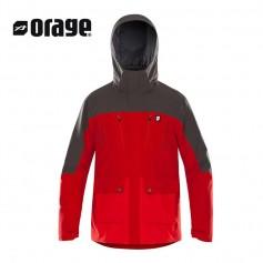 Veste de ski ORAGE Jefferson Rouge / Gris Homme