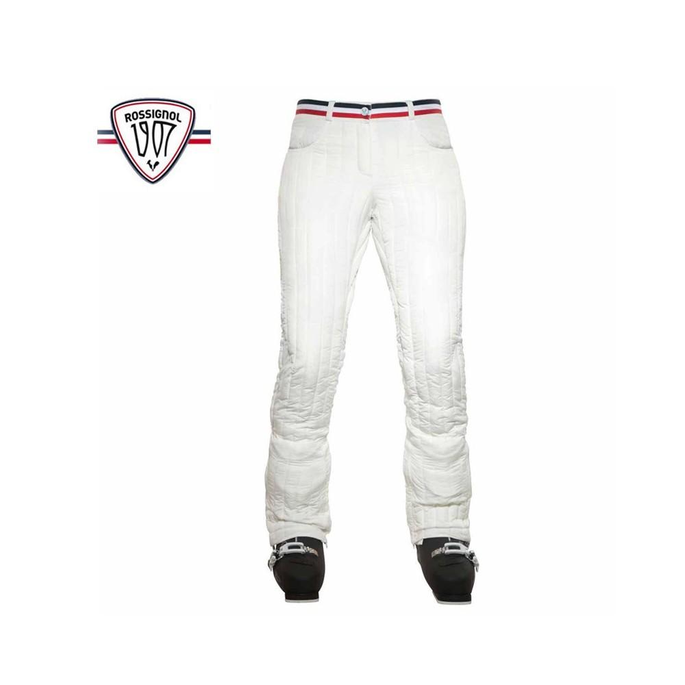 Pantalon de ski ROSSIGNOL 1907 Cyrus Light Blanc Femme
