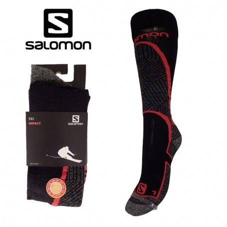Chaussettes de ski SALOMON Impact Rouge Unisexe