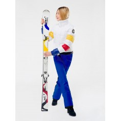 Pantalon de ski ROSSIGNOL JJC Super 8 Bleu Femme
