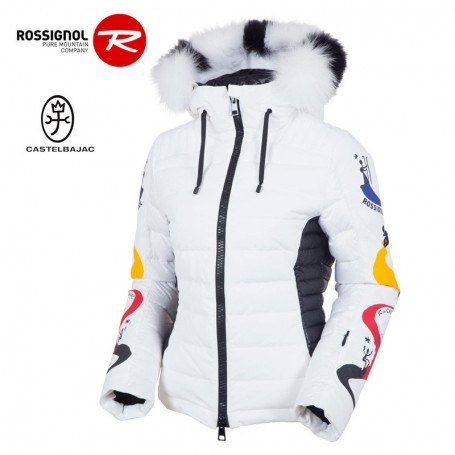 Veste de ski ROSSIGNOL JJC Steam up Down blanc Femme