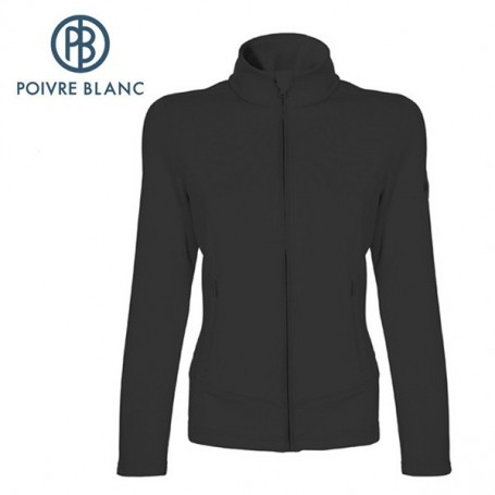 Veste stretch POIVRE BLANC JRGL Fleece Jacket Noir Fille