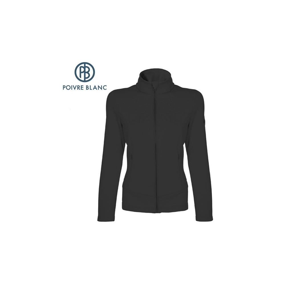 Veste stretch POIVRE BLANC JRGL Fleece Jacket Noir Fille