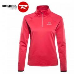 Pullover 1/2 zip ROSSIGNOL Warm Strech Rose Femme