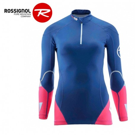 Maillot thermique ROSSIGNOL Infini Compression Bleu / Rose Femme