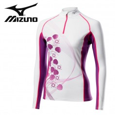 Maillot thermique MIZUNO Mid Weight Blanc femmes