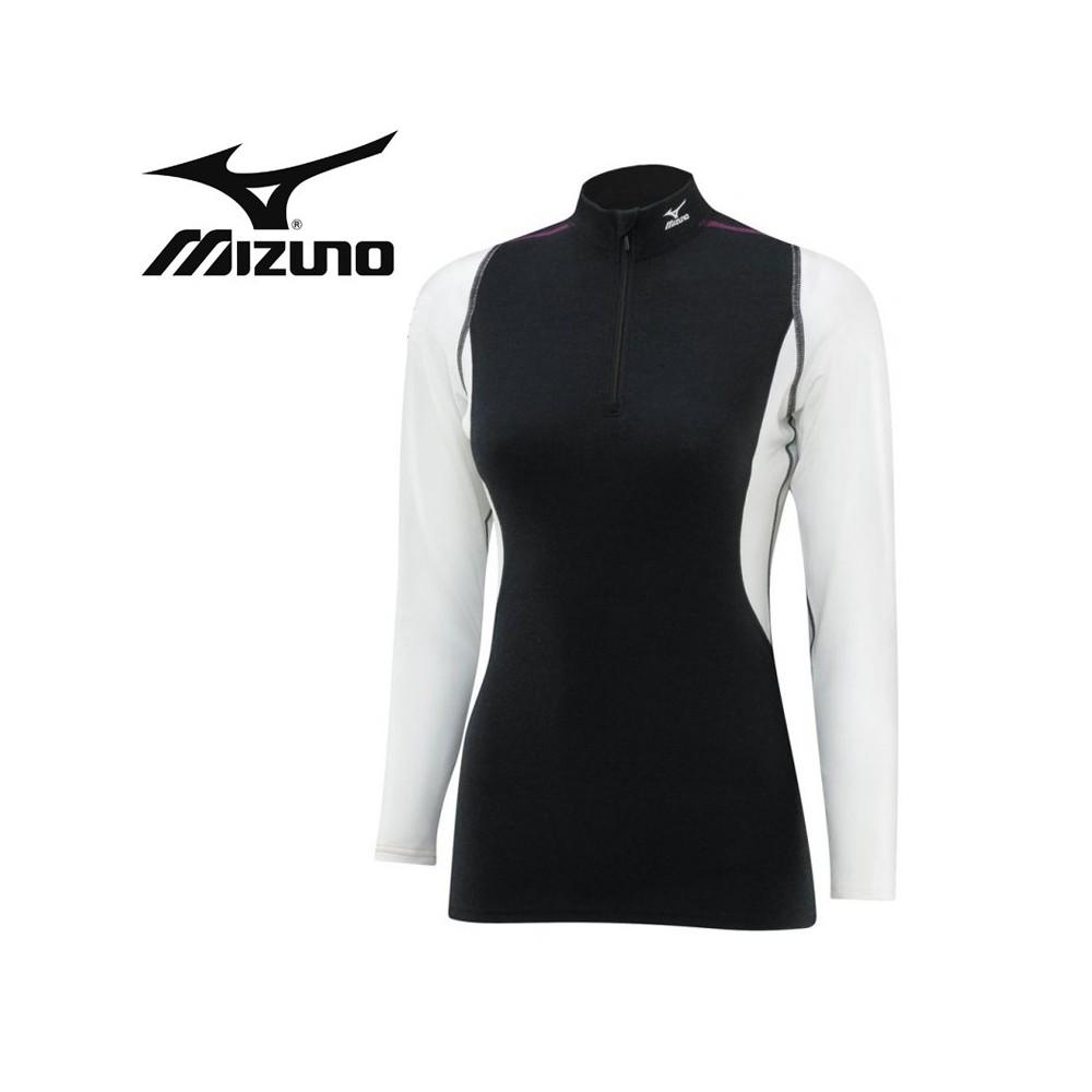 Maillot thermique MIZUNO Thermal strech H/Z Noir Femmes