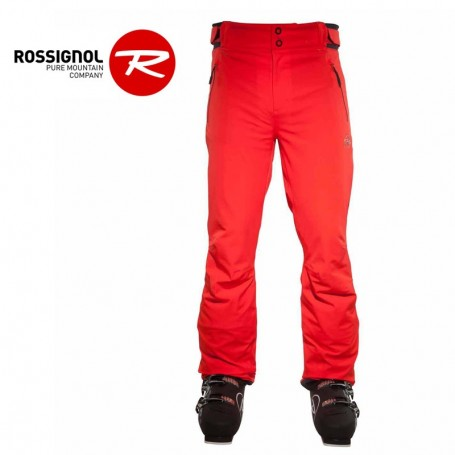 Pantalon de ski rossignol heroes rouge orang homme for Housse de velo intersport