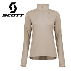Pullover 1/2 zip SCOTT Defined Light Beige Femmes