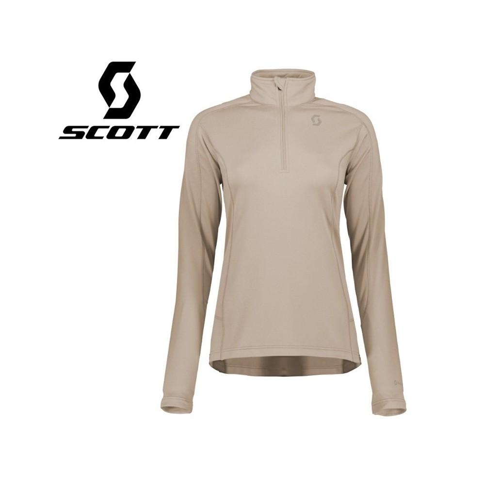 Pullover 1/2 zip SCOTT Defined Light Beige Femmes
