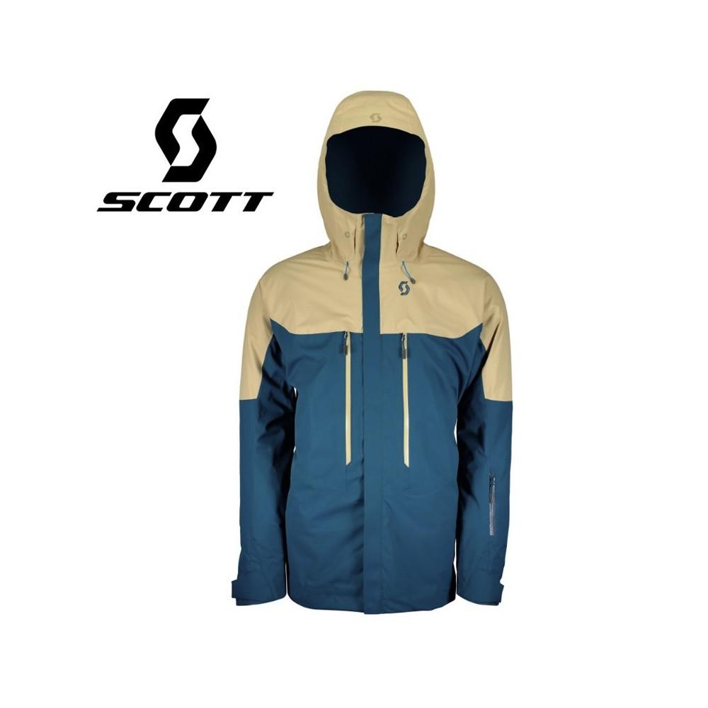Veste de ski SCOTT Vertic 2L Insulated Beige / Bleu Hommes