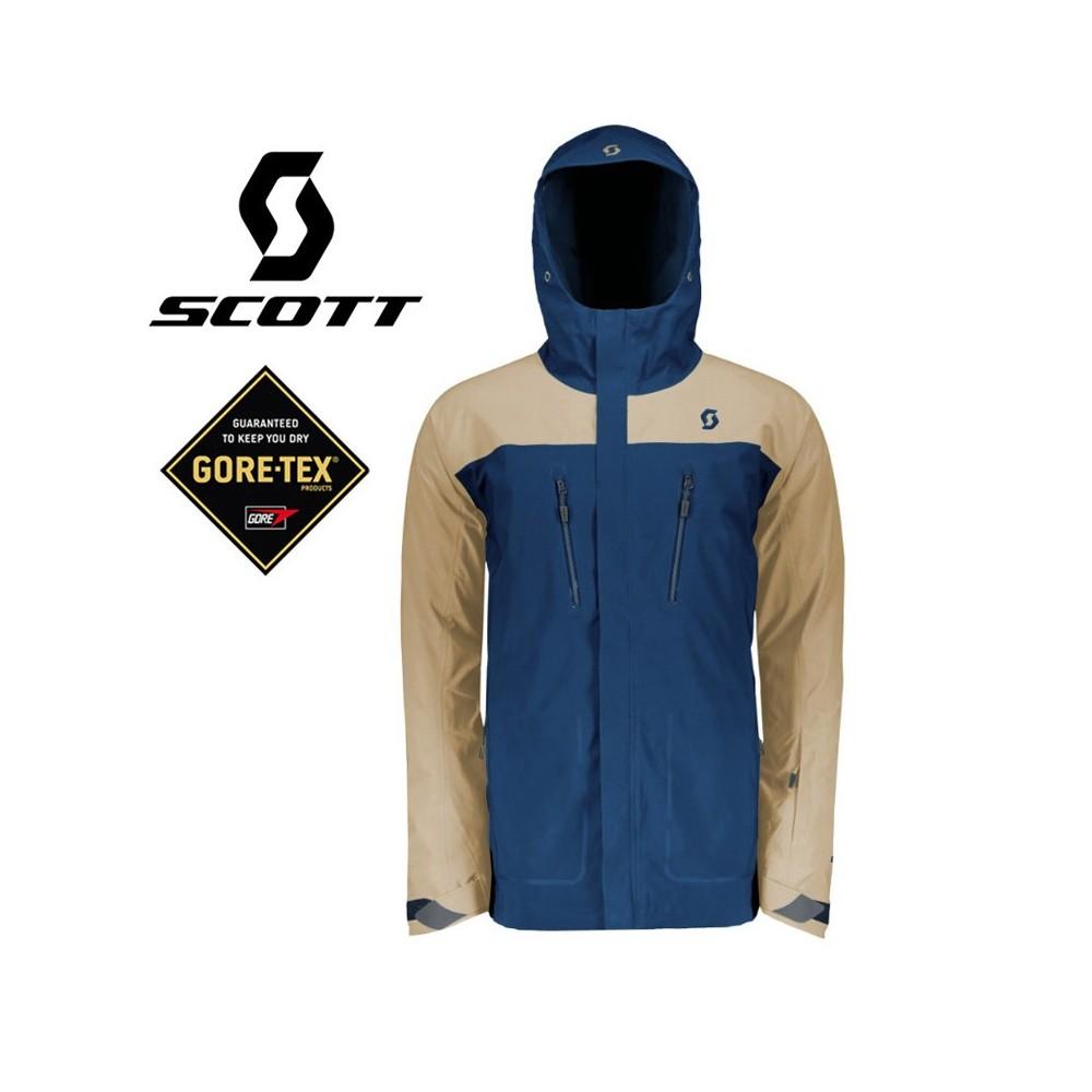 Veste de ski SCOTT Ultimate Gtx Beige / Bleu Hommes