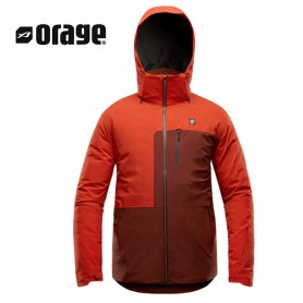 Veste de ski ORAGE Miller Orange / Marron Homme