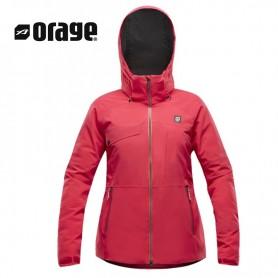 Veste de ski sans isolation ORAGE Grace Shell Rose Femme