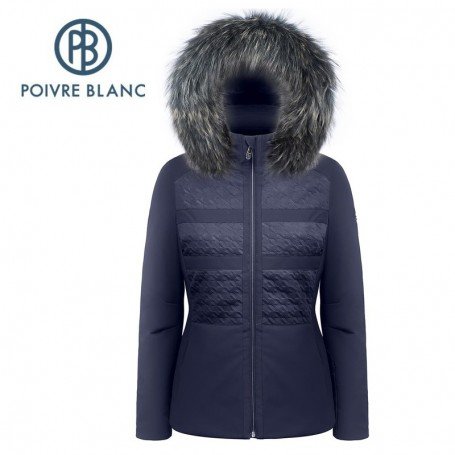 Veste de ski POIVRE BLANC W17-0803 WO/B Bleu marine Femme