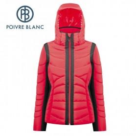Blouson de ski POIVRE BLANC W17-1004 WO Noir / Rouge Femme