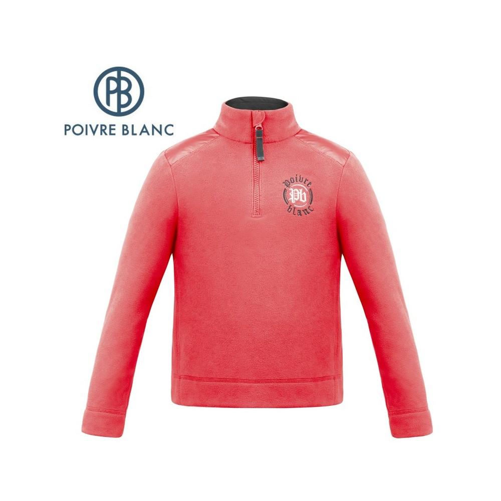 Polaire POIVRE BLANC W17-1550 JRBY Rouge Garçons