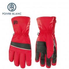 Gants de ski POIVRE BLANC W17-0970 JRBY Rouge Garçon