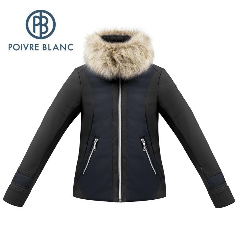 Veste Softshell POIVRE BLANC W17 1101 JRGLA Noir Bleu Fille Sport a tout prix