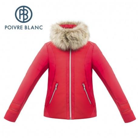 Veste Softshell POIVRE BLANC W17-1101 JRGL/A Rouge Fille