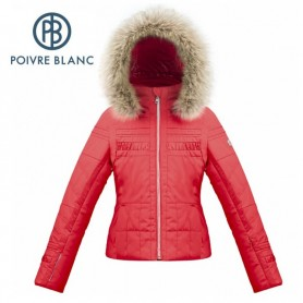 Veste de ski POIVRE BLANC W17-1002 JRGL/A Rouge Fille