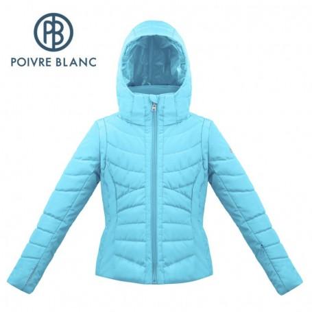 Blouson de ski POIVRE BLANC W17-1004 JRGL Bleu Fille