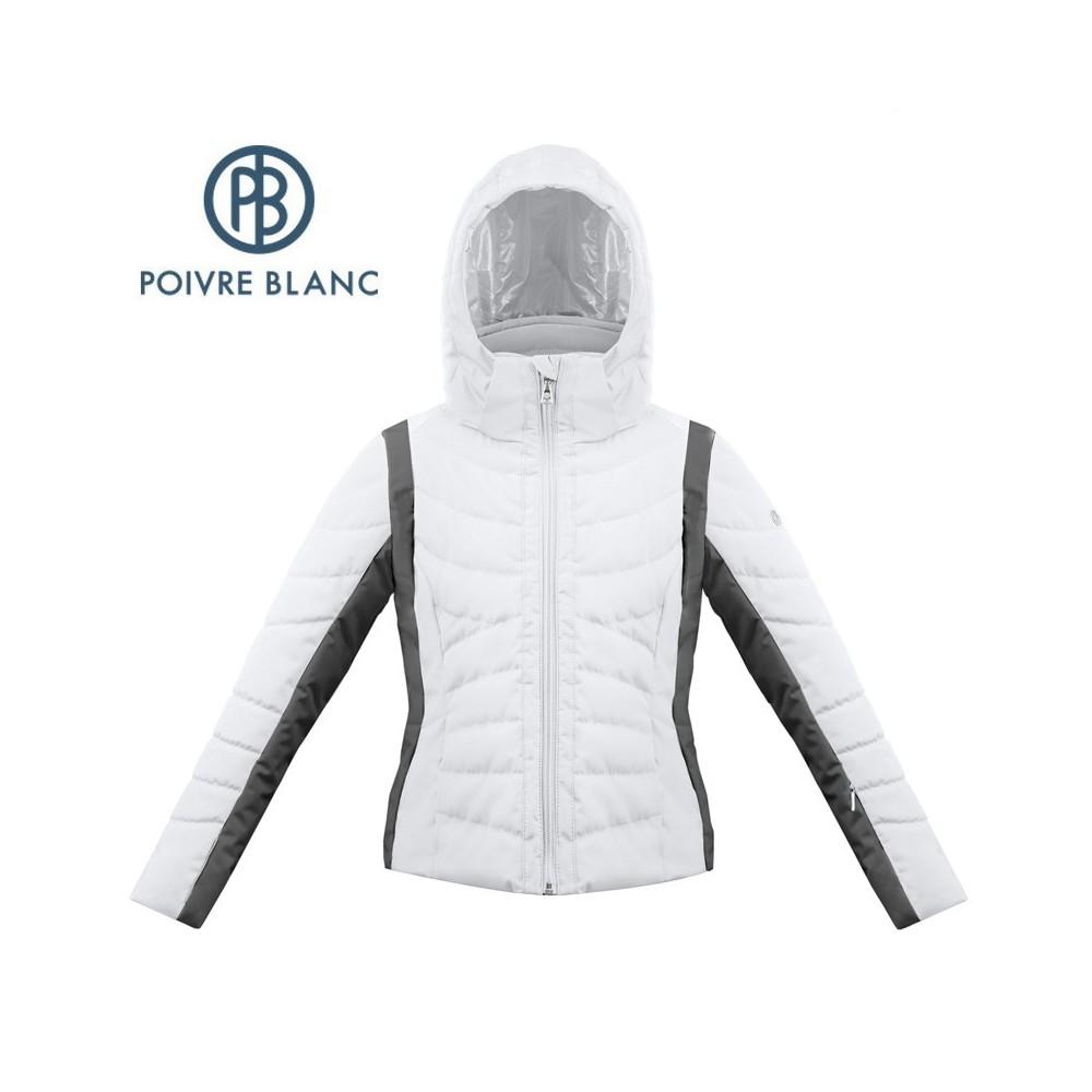 Blouson de ski POIVRE BLANC W17-1004 JRGL Blanc / Noir Fille