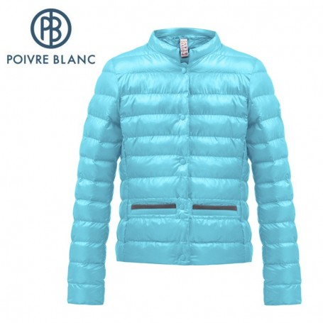 Doudoune légère POIVRE BLANC W17-1250 JRGL Bleu Fille