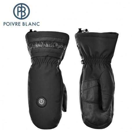 Moufles de ski POIVRE BLANC W17-1072 JRGL Noir Fille