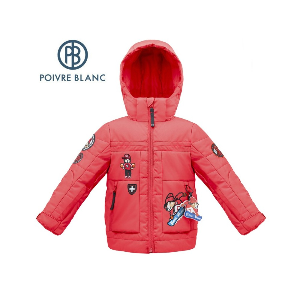Veste de ski POIVRE BLANC W17-0903 BBBY Rouge BB Garçon
