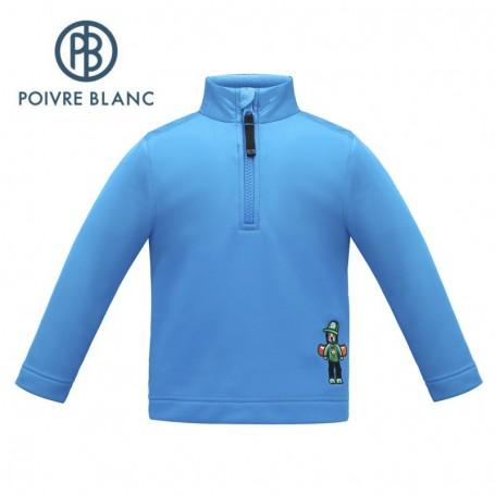 Maillot 1/2 zip stretch POIVRE BLANC W17-1760 BBBY Bleu BB Garçon