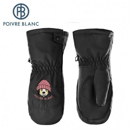 Moufles de ski POIVRE BLANC W17-0973 BBBY Noir BB Garçon