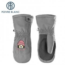 Moufles de ski POIVRE BLANC W17-0973 BBBY Gris souris BB Garçon