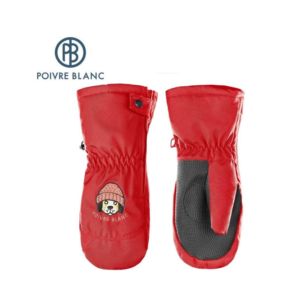 Moufles de ski POIVRE BLANC W17-0973 BBBY Rouge BB Garçon