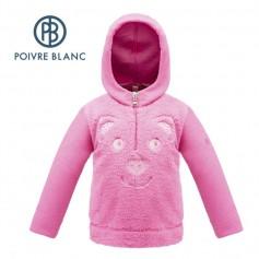 Sweat zippé POIVRE BLANC W17-3640 BBGL Rose BB Fille