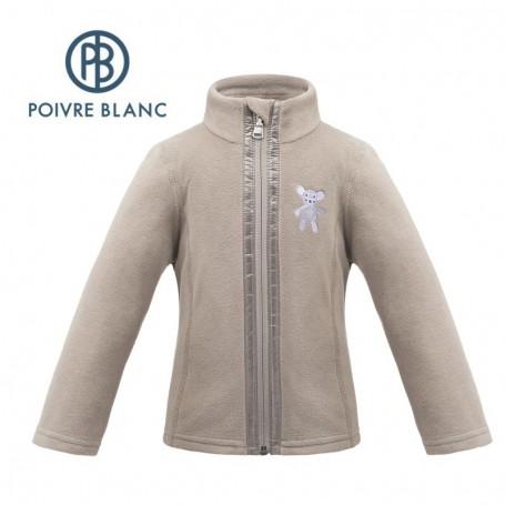 Veste polaire POIVRE BLANC W17-1500 BBGL Marron BB Fille