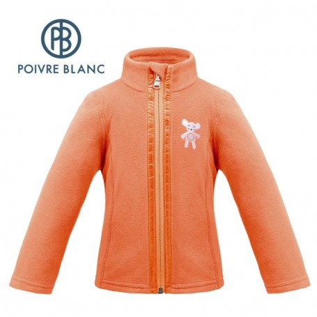 Veste polaire POIVRE BLANC W17-1500 BBGL Orange BB Fille