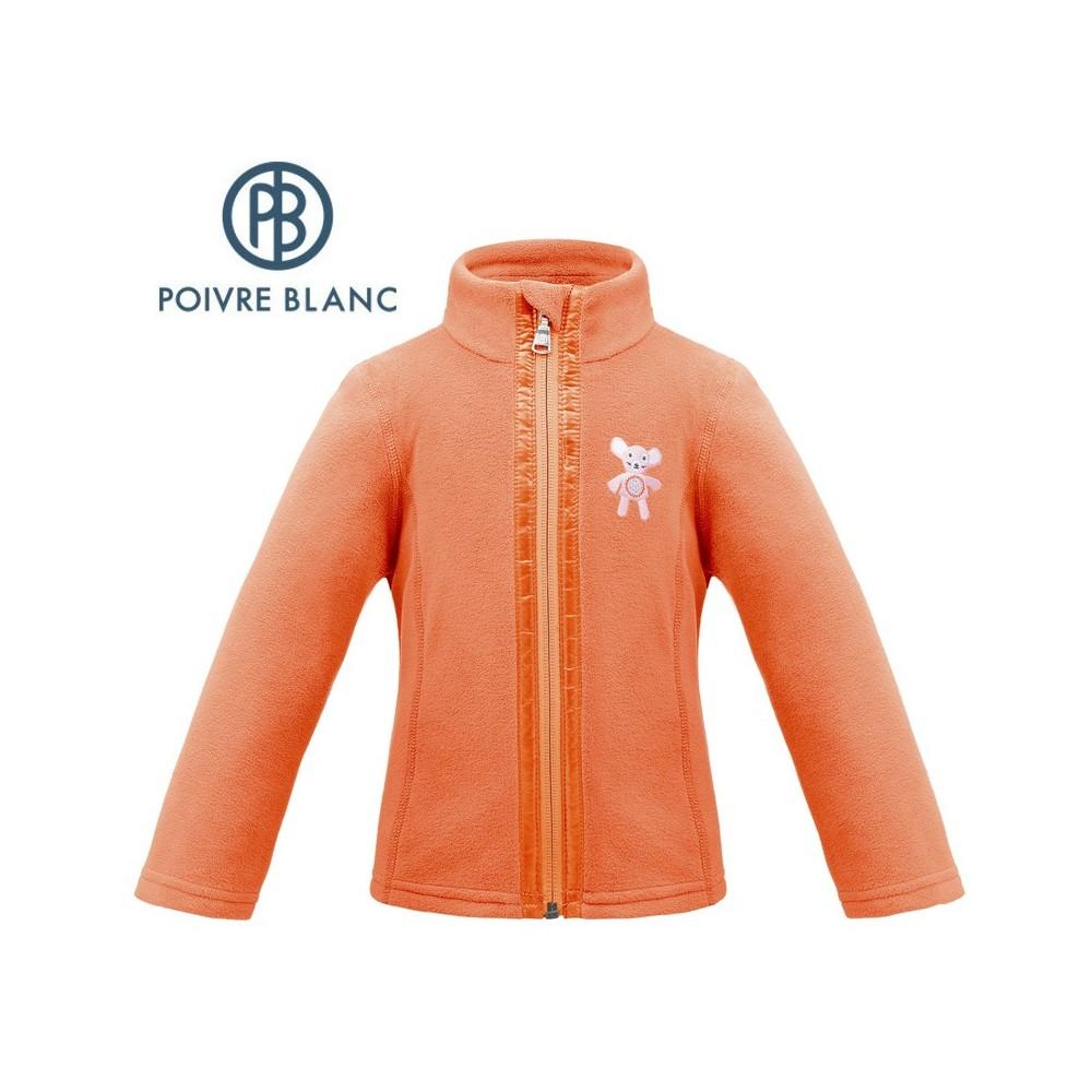 Veste polaire POIVRE BLANC W17-1500 BBGL Orange BB Fille